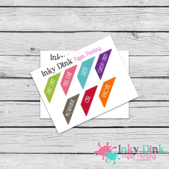 New to InkyDinkPrinting on Etsy: 7 Bill Pay House Payment Budget Sample Sheet Planner Stickers Erin Condren Happy Planner Plum Planner Sticker Sampler EC Life Planner SP-08 (1.50 USD)