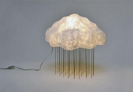 Cloud Silver Rain Table Lamp