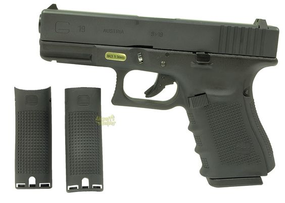 WE Glock 19 GBB Pistols at Airsoft Helper. great tactical practice