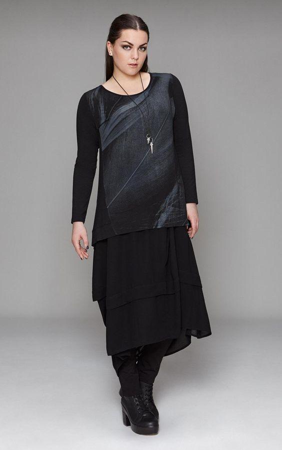 SALE - Euphoria - plume top - final clearance TOWANDA womenswear - plus size designer fashion boutique women's clothes shop.