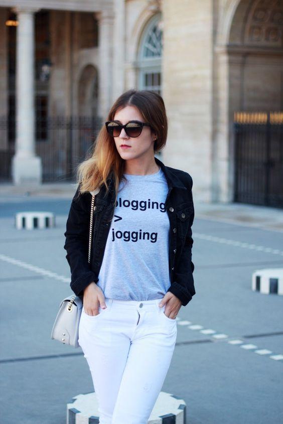@elodieinparis  Jacket : DDP Woman / T-shirt : Adolescent Clothing / Jeans : Cimarron / Bag : Ted Lapidus / Shoes : Even & Odd via Zalando / Sunglasses : Prada