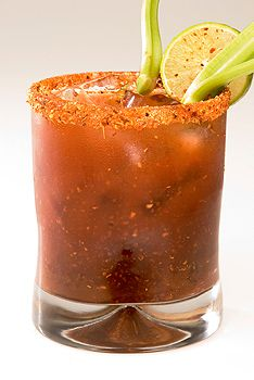 1 Liter of Clamato®.  3 ounces of Fluid Classic Spicy TAJÍN ®  2 Tablespoons of TAJÍN ® Classic Dust   1 Lemon (juice)   2 sprigs of celery tender   A pinch of powdered ginger   A pinch of nutmeg   A few drops of Sazonador seasoning   A bit of water (according to the desired consistency) Blend all the ingredients for 30 to 40 seconds. Strain it and serve on ice. It is the ideal companion for a good tequila.