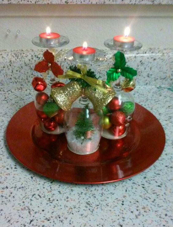 30 Diy Ideas For Christmas Decorations Table Decorations Christmas Can Holiday Decor Christmas Wooden Christmas Tree Decorations Christmas Table Centerpieces