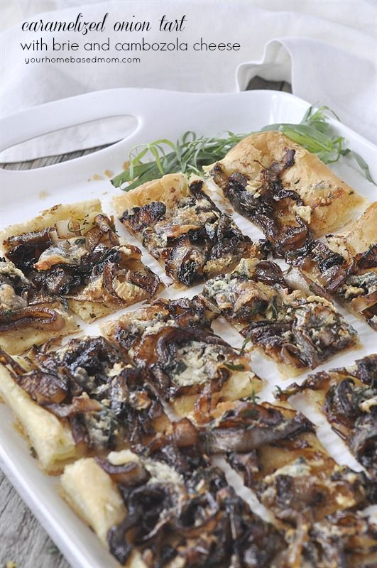 Caramelized Onion Tart with Brie and Cambozola Cheese | Recipe | Onion ...