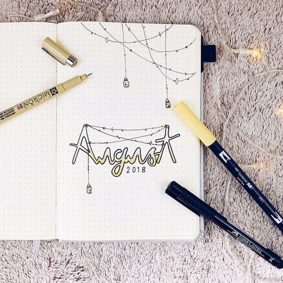 30 idées pour votre monthly log d'août