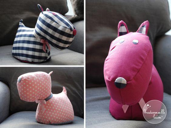 chiens cale porte fabriquer des babioles pinterest. Black Bedroom Furniture Sets. Home Design Ideas