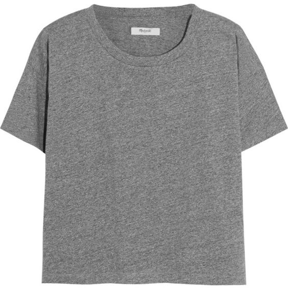 Madewell Cropped cotton-jersey T-shirt (£25) ❤ liked on Polyvore featuring tops, t-shirts, shirts, tees, loose crop top, loose t shirt, t shirt, crop tee and boxy t shirt