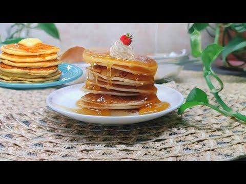 حضريها في 5 دقائق مكونات موجودة في البيت بدون فرن أسرع وألذ بان كيك سهل وسريع طري وخفيف كالقطن Youtube Pancakes Food Waffles