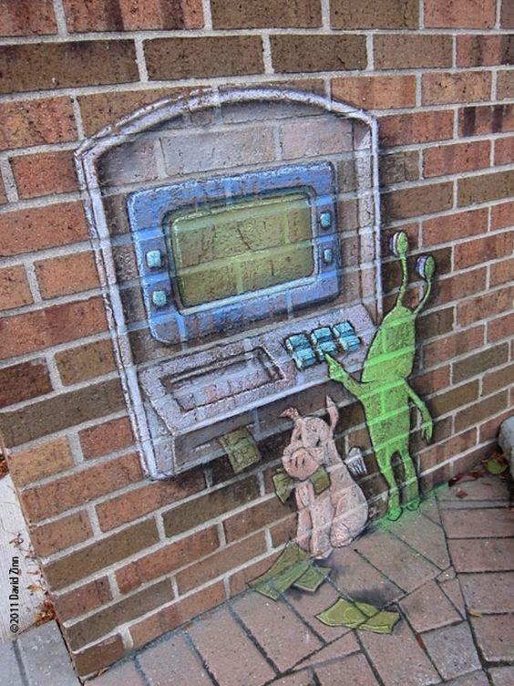 Delightful 3D Chalk Art Of Little Creatures Pop Up On Streets