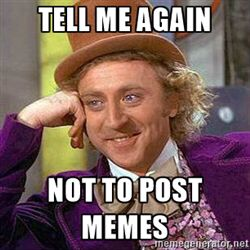 This is me when my friend told me that it's annoying that I post so many memes