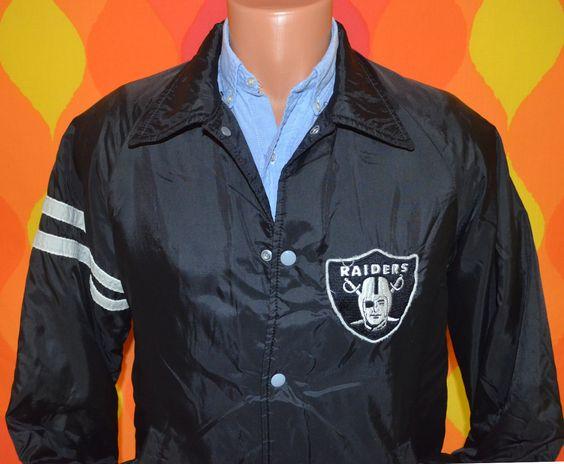 70s vintage windbreaker RAIDERS oakland LA nfl football jacket ...