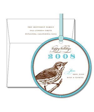 Sparrow Ornament Card by Dauphine Press, 50 for $951