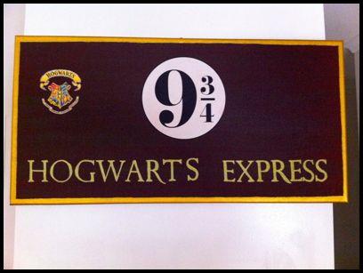 hogwarts express sign