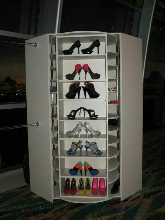 Rotating Shoe Rack 200 Pairs Shoes Pinterest
