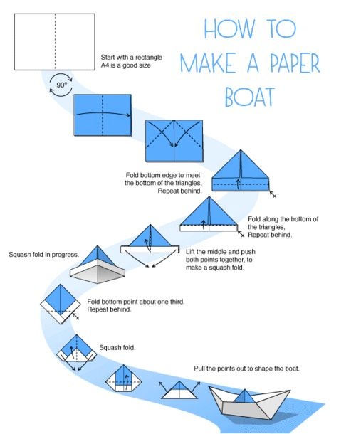 how to make a paper boat kid stuff pinterest diy and