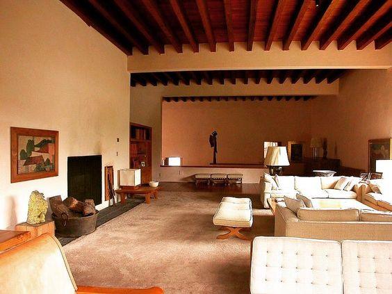 Casa Eduardo Prieto-Lopez, designed by Luis Barragán 1947-50 at Jardines del Pedregal, Mexico City.