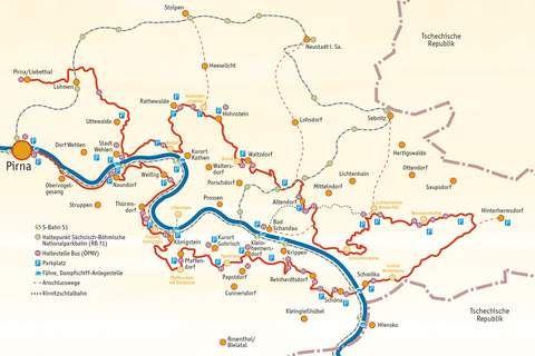 Malerweg Karte Malerweg Sachsische Schweiz Karte Elbsandsteingebirge