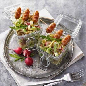 Sommerfest: Linsen-Spätzle-Salat