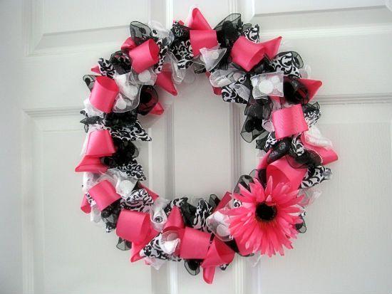 Big Bears Wife: How to make a Ribbon Wreath