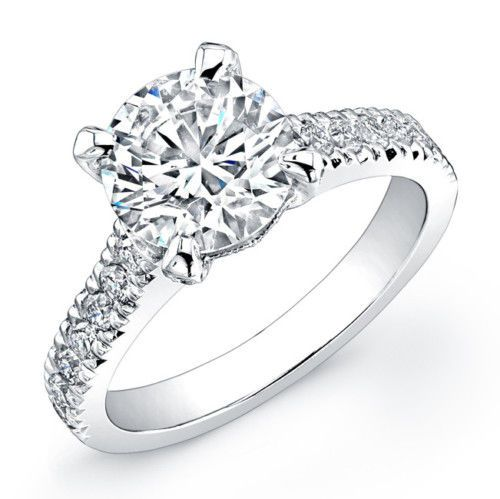 4.98 Ct Round Cut Diamond Engagement Ring - Click to find out more - http://gioweddingrings.com/4-98-ct-round-cut-diamond-engagement-ring/