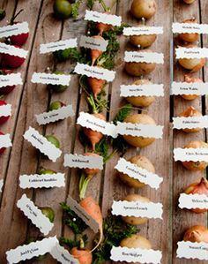 vegetable weddings. Book your wedding with us at www.hummingbirdeco.com.au #outdoor #wedding #garden