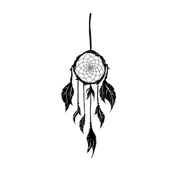 native american dream catcher silhouette urbaine art mural sticker vinyle sur mesure stickers. Black Bedroom Furniture Sets. Home Design Ideas