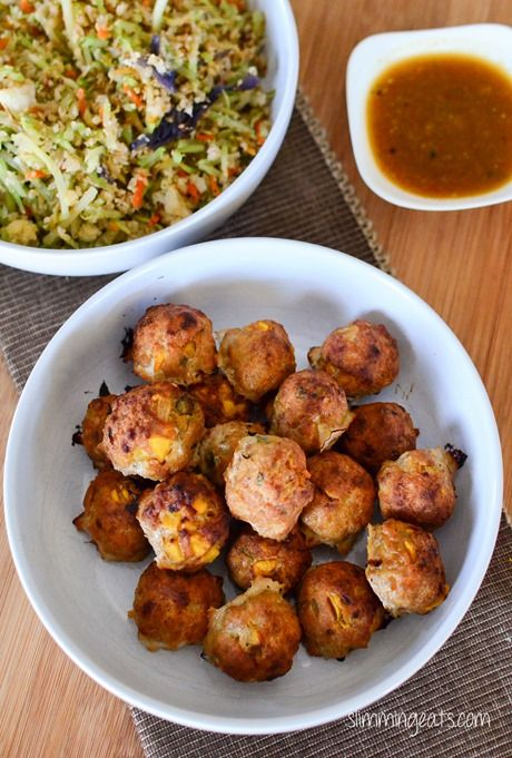 Chicken and Mango Meatballs with Spicy Mango Sauce - Slimming Eats Recipe