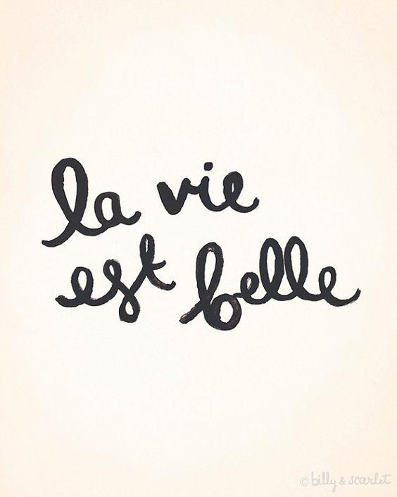 La vie est belle ... par Reda sur Etsy