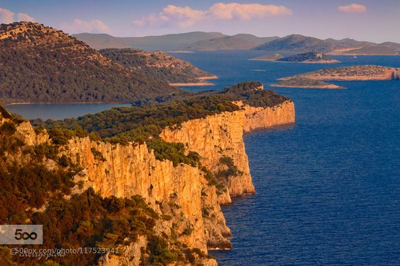 Adriatic - Pinned by Mak Khalaf sunset on the cliffs of Dugi otok (eng. Long Island) in Croatia with the Telascica salt lake to the left and the Kornati archipelago (national park) in the background Landscapes AdriaticCroatiaDugi otokHrvatskaKornatiTelascicabluecliffscoastislandlandscaperocksseaseascapesummersunsetwater by cherryspicks1