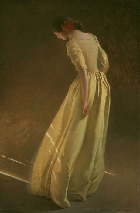 Sunlight by John White Alexander  (7 October 1856 – 31 May 1915), an American portrait, figure, and decorative painter and illustrator.