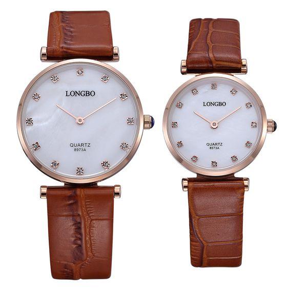 Lovers watches men and women quartz watch fashion brand 2 pointer couple wristwatch waterproof -Style Men