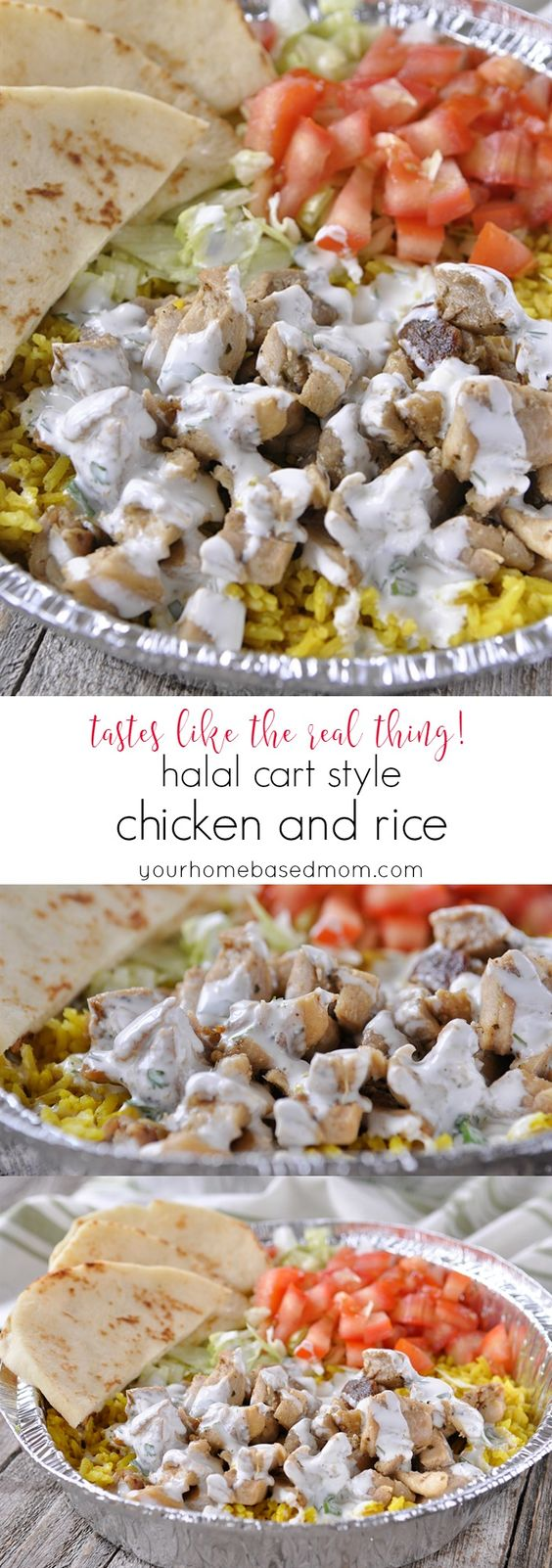 Halal Cart Style Chicken and Rice - tastes like the real thing!