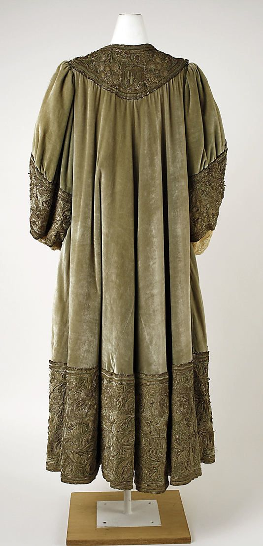 Embroidered cloak.