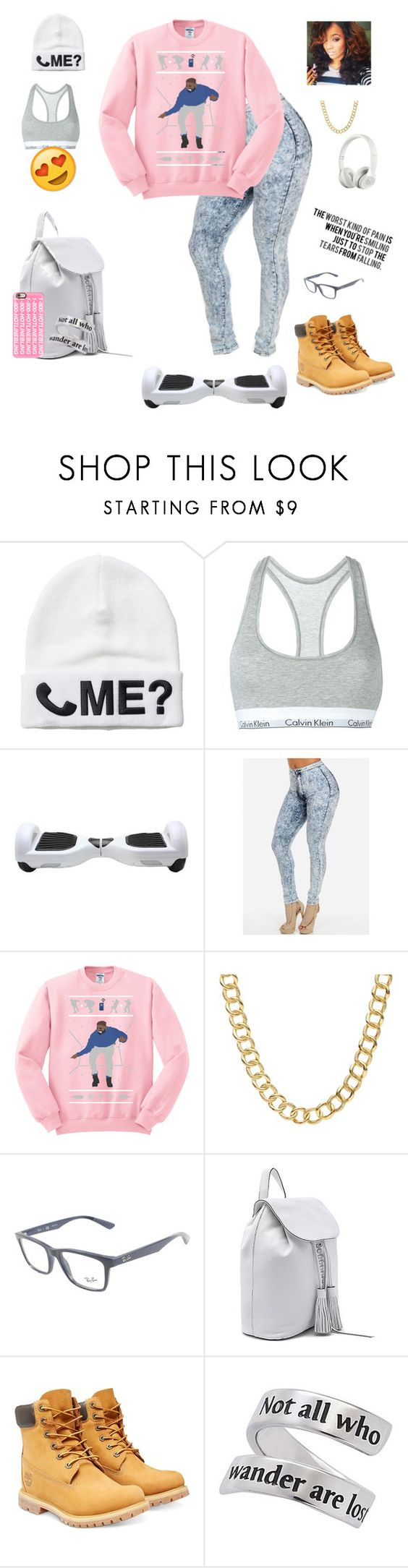 """""""Just something. Hotline tired. """" by misfit4life13 ❤ liked on Polyvore featuring Monki, Calvin Klein Underwear, Beats by Dr. Dre, Coach, Ray-Ban, Love Quotes Scarves, Rebecca Minkoff, Timberland, Natures Jewelry and Casetify"""