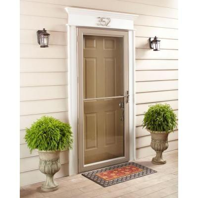 Andersen 30 in x 80 in 2500 series white universal self for New screen door home depot