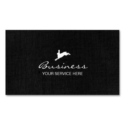 Jumping Hare Classy Dark Linen Double-Sided Standard Business Cards (Pack Of 100)