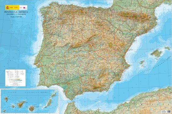 El mapa topográfico está realizado a partir de las diferentes hojas que ha ido elaborando el IGN para completar el mapa del territorio español. Según el zoom del mapa interactivo la imagen cartográ…