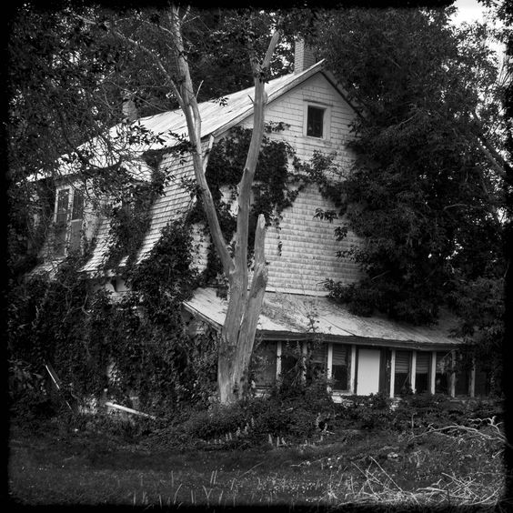 Old Abandoned House On Hwy 105- Ansel Adam Style