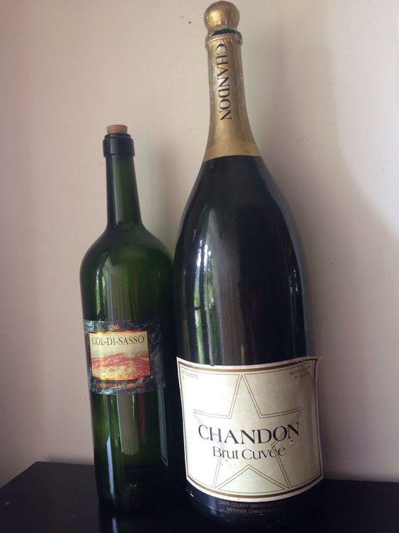 Jumbo+Champagne+bottles+wedding+decor+by+FIGHOUSEVINTAGE+on+Etsy