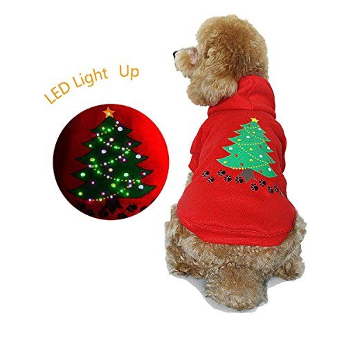 Christmas Outfits Puppies Christmas Dog Outfit Lighted Up Pet