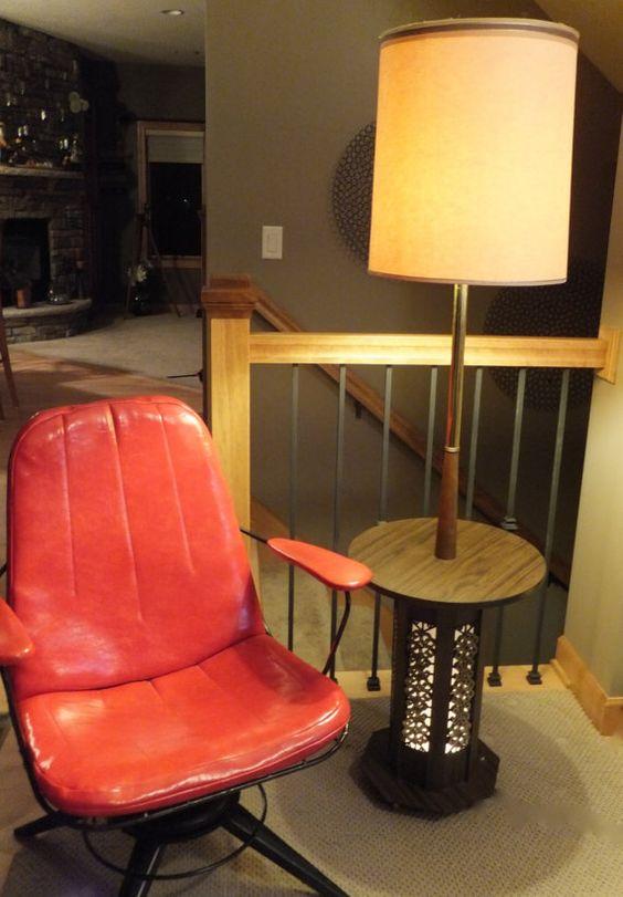 60 3 way table lamp floor lamp lamp shade mid century modern lighting wood table brass table. Black Bedroom Furniture Sets. Home Design Ideas
