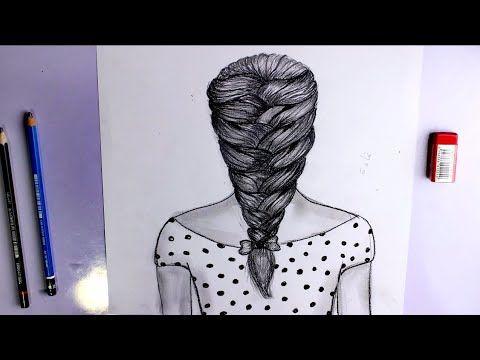 تعلم رسم الشعر سهل جدا للمبتدئين رسم ضفيره سهل خطوة بخطوة Hair Hair Styles Beauty