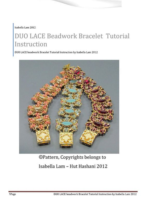 DUO Lace SuperDuo Beadwork Bracelet Pdf tutorial par bead4me