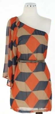 I like this dress.  But these are the colors I'm using in our master bedroom and the grey/orange combo on fabric is no where to be found...and now it's on a dress, really???  Does this fabric come in home decor weight?