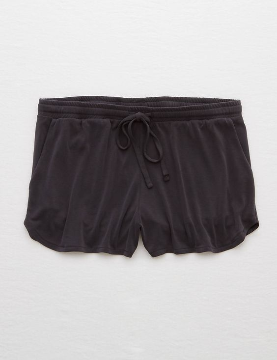 """American Eagle Aerie Drawstring Short $25 :: ~ Soft sueded fabric ~ Pockets at hips ~ Drawstring elastic waistband ~ 2.5"""" inseam (size S) ~ 64% Modal, 36% Polyester ~ Machine Wash"""