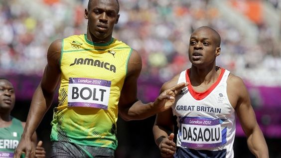 James Dasaolu took on Usain Bolt at the London Olympics in 2012