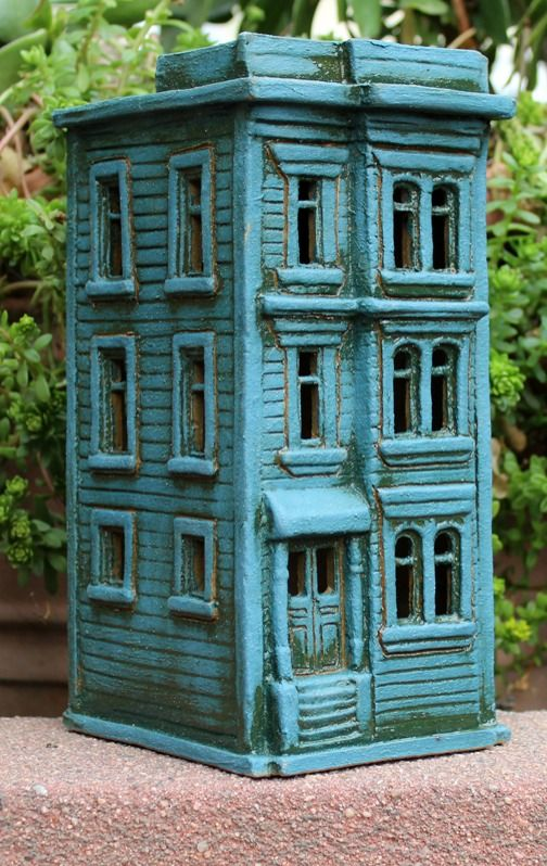 Townehouse #2 | Harry Tanner Design  Miniature clay house sculpture nitelite
