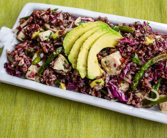 Black Rice Salad with Avocado & Spring Vegetables