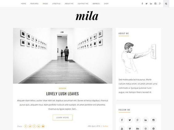 Mila | Blog & Shop Theme with Forum by khalilthemes on @creativemarket