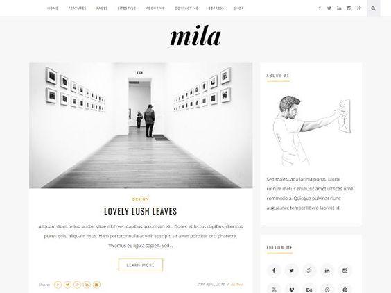Mila | Blog & Shop Theme with Forum by khalilthemes on @creativemarket